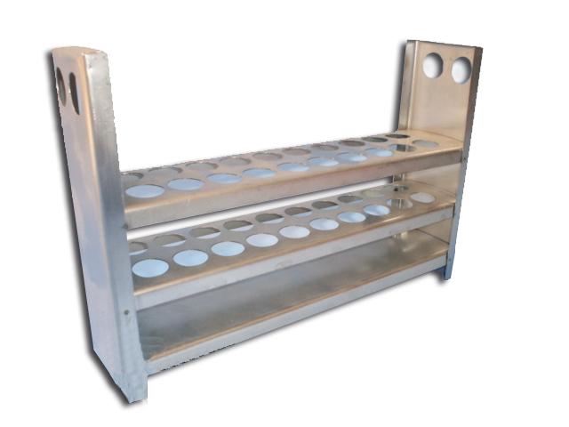 Gradilla de acero inoxidable para 20 tubos 15x125 con - Tubos para chimeneas de acero inoxidable ...